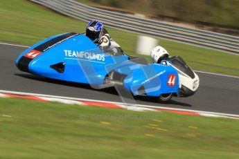 © Octane Photographic Ltd. Wirral 100, 28th April 2012. Sidecars. Free Practice. Alan Founds/Tom Peters. Digital ref : 0308cb7d8777