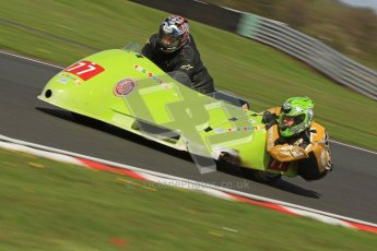 © Octane Photographic Ltd. Wirral 100, 28th April 2012. Sidecars. Free Practice. Peter Townson/Glyn Jones. Digital ref : 0308cb7d8802