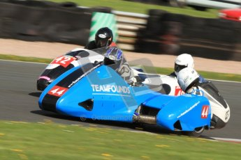 © Octane Photographic Ltd. Wirral 100, 28th April 2012. Sidecars. Alan Founds/Tom Peters. Free Practice. Digital ref : 0308cb7d8868