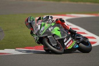 © Octane Photographic Ltd. World Superbike Championship – Silverstone, 2nd Free Practice. Saturday 4th August 2012. Tom Sykes - Kawasaki ZX-10R - Kawasaki racing Team. Digital Ref : 0446lw7d0318