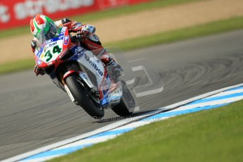 © Octane Photographic Ltd. 2012 World Superbike Championship – European GP – Donington Park. Friday 11th May 2012. WSBK Free Practice. Davide Giuliano - Ducati 1098R. Digital Ref : 0328cb1d2657