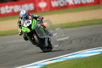 © Octane Photographic Ltd. 2012 World Superbike Championship – European GP – Donington Park. Friday 11th May 2012. WSBK Free Practice. Loris Baz - Kawasaki ZX-10R. Digital Ref : 0328cb1d2717