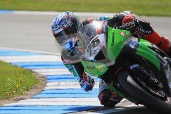 © Octane Photographic Ltd. 2012 World Superbike Championship – European GP – Donington Park. Friday 11th May 2012. WSBK Free Practice. Loris Baz - Kawasaki ZX-10R. Digital Ref : 0328lw7d3431