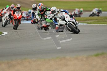 © Octane Photographic Ltd 2012. World Superbike Championship – European GP – Donington Park, Sunday 13th May 2012. Race 1. Leon Haslam and Tom Sykes. Digital Ref : 0335cb1d5069