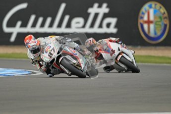 © Octane Photographic Ltd 2012. World Superbike Championship – European GP – Donington Park, Sunday 13th May 2012. Race 1. Lorenzo Zanetti, Jakob Smrz and Hiroshi Aoyama. Digital Ref : 0335cb1d5140