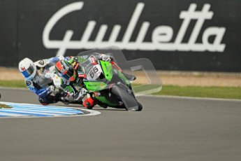 © Octane Photographic Ltd 2012. World Superbike Championship – European GP – Donington Park, Sunday 13th May 2012. Race 1. Tom Sykes and Leon Haslam. Digital Ref : 0335cb1d5152