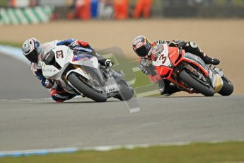 © Octane Photographic Ltd 2012. World Superbike Championship – European GP – Donington Park, Sunday 13th May 2012. Race 1. Marco Melandri and Max Biaggi. Digital Ref : 0335cb1d5212