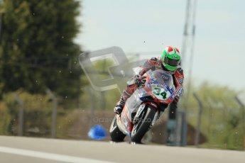 © Octane Photographic Ltd 2012. World Superbike Championship – European GP – Donington Park, Sunday 13th May 2012. Race 2. Davide Giugliano sprays gravel after an earlier off. Digital Ref : 0337cb1d5536