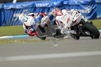 © Octane Photographic Ltd 2012. World Superbike Championship – European GP – Donington Park, Sunday 13th May 2012. Race 2. Leon Haslam and Jonathan Rea. Digital Ref : 0337cb1d5691
