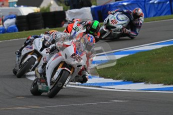 © Octane Photographic Ltd 2012. World Superbike Championship – European GP – Donington Park, Sunday 13th May 2012. Race 2. Jonathan Rea leads the pack. Digital Ref : 0337lw7d7751