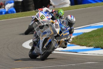© Octane Photographic Ltd 2012. World Superbike Championship – European GP – Donington Park, Sunday 13th May 2012. Race 2. Ayrton Badovini and Chaz Davies. Digital Ref : 0337lw7d7807