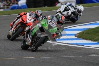 © Octane Photographic Ltd 2012. World Superbike Championship – European GP – Donington Park, Sunday 13th May 2012. Race 2. Tom Sykes, Max Biaggi and Leon Haslam. Digital Ref : 0337lw7d7898