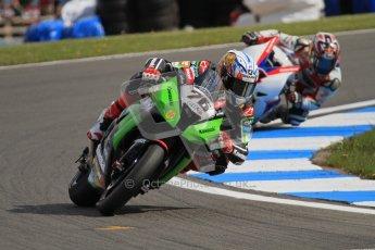 © Octane Photographic Ltd 2012. World Superbike Championship – European GP – Donington Park, Sunday 13th May 2012. Race 2. Loris Baz and Hiroshi Aoyama. Digital Ref : 0337lw7d8061