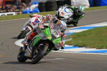 © Octane Photographic Ltd 2012. World Superbike Championship – European GP – Donington Park, Sunday 13th May 2012. Loris Baz and Hiroshi Aoyama. Race 2. Digital Ref : 0337lw7d8180