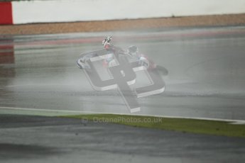 © Octane Photographic Ltd. World Superbike Championship – Silverstone, Race 2. Sunday 5th August 2012. Carlos Checa drops his bike on standing water heading into Club corner - Ducati 1098R - Althea Racing. Digital Ref :