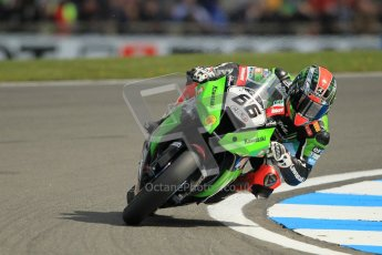 © Octane Photographic Ltd 2012. World Superbike Championship – European GP – Donington Park. Superpole session 1. Pole position - Tom Sykes - Kawasaki ZX-10R. Digital Ref : 0334cb1d4313