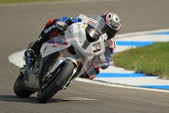 © Octane Photographic Ltd 2012. World Superbike Championship – European GP – Donington Park. Superpole session 1. 3rd Place - Marco Melandri - BMW S1000RR. Digital Ref : 0334cb1d4335