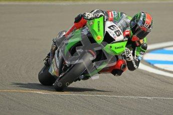 © Octane Photographic Ltd 2012. World Superbike Championship – European GP – Donington Park. Superpole session 1. Pole position - Tom Sykes - Kawasaki ZX-10R. Digital Ref : 0334cb1d4378