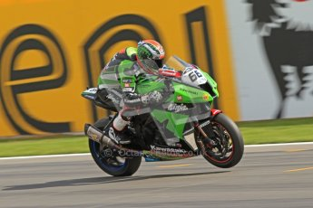 © Octane Photographic Ltd 2012. World Superbike Championship – European GP – Donington Park. Superpole session 3. Pole position - Tom Sykes - Kawasaki ZX-10R. Digital Ref :  0334cb7d2265