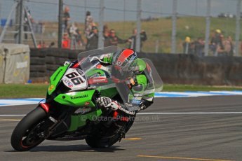 © Octane Photographic Ltd 2012. World Superbike Championship – European GP – Donington Park. Superpole session 2. Pole position - Tom Sykes - Kawasaki ZX-10R. Digital Ref :  0334lw7d6202