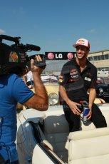 World © Octane Photographic Ltd. F1 USA GP, Austin, Texas, Circuit of the Americas (COTA), Sunday 17th November 2013 - Drivers' parade. Scuderia Toro Rosso STR 8 - Daniel Ricciardo. Digital Ref : 0860lw1d2385