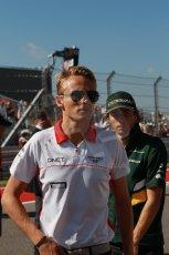 World © Octane Photographic Ltd. F1 USA GP, Austin, Texas, Circuit of the Americas (COTA), Sunday 17th November 2013 - Drivers' parade. Marussia F1 Team MR02 - Max Chilton. Digital Ref : 0860lw1d2522