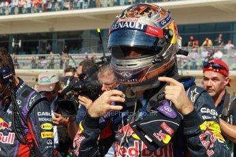 World © Octane Photographic Ltd. F1 USA GP, Austin, Texas, Circuit of the Americas (COTA), Sunday 17th November 2013 - Grid. Infiniti Red Bull Racing RB9 - Sebastian Vettel. Digital Ref : 0860lw1d2661