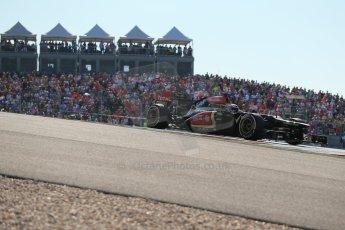 World © Octane Photographic Ltd. F1 USA GP, Austin, Texas, Circuit of the Americas (COTA), Sunday 17th November 2013 - Race. Lotus F1 Team E21 – Heikki Kovalainen. Digital Ref : 0861lw1d6069