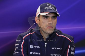 World © Octane Photographic Ltd. USA F1 Grand Prix, Austin, Texas, Circuit of the Americas (COTA). FIA Press Conference, Thursday 14th November 2013. Pastor Maldonado - Williams. Digital Ref : 0851lw1d2346