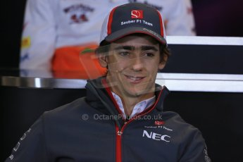 World © Octane Photographic Ltd. USA F1 Grand Prix, Austin, Texas, Circuit of the Americas (COTA). FIA Press Conference, Thursday 14th November 2013. Esteban Gutierrez – Sauber F1 Team.Digital Ref : 0851lw1d2403