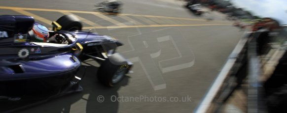 World © Octane Photographic Ltd./Carl Jones. Saturday August 31st 2013, AutoGP qualifying, Donington Park, Narain Karthikeyan, Super Nova. Digital Ref : 0803cj7d0031