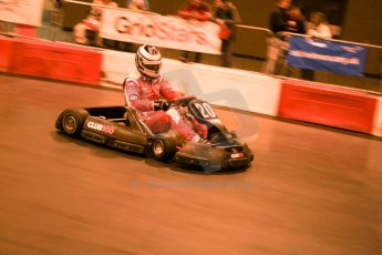 ©  Octane Photographic Ltd. January 11th 2013. Autosport International. Autosport International Karting Challenge in aid of The Alzheimer's Society. James Cole. Digiatal Ref :