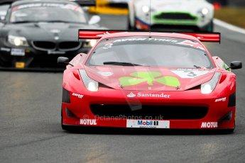 World © Octane Photographic Ltd. Avon Tyres British GT Championship. Monday 1st April 2013 Oulton Park – Race 1. Ferrari 458 Italia – Rosso Verde – Hector Lester, Allan Simonsen. Digital Ref : 0623ce1d8645
