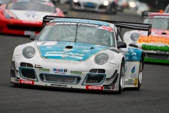World © Octane Photographic Ltd. Avon Tyres British GT Championship. Monday 1st April 2013 Oulton Park – Race 1. Porsche 997 GT3-R – Oman Air Motorbase – Michael Caine, Ahmad Al Harthy. Digital Ref : 0623ce1d8705