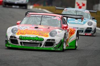 World © Octane Photographic Ltd. Avon Tyres British GT Championship. Monday 1st April 2013 Oulton Park – Race 1. Porsche 997 GT3-R – Trackspeed – Phil Keen, Jon Minshaw. Digital Ref : 0623ce1d8763