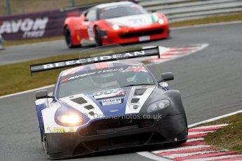 World © Octane Photographic Ltd. Avon Tyres British GT Championship. Monday 1st April 2013 Oulton Park – Race 2. Aston Martin V12 Vantage GT3 – Beechdean Motorsport – Jonathan Adams, Andrew Howard. Digital Ref : 0625ce1d9625