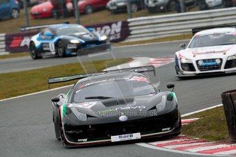 World © Octane Photographic Ltd. Avon Tyres British GT Championship. Monday 1st April 2013 Oulton Park – Race 2. Ferrari 458 Italia – Vita4One Team Italy – Matteo Bobbi, Jay Palmer. Digital Ref : 0625ce1d9632