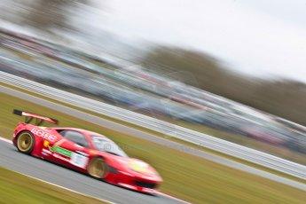 World © Octane Photographic Ltd. Avon Tyres British GT Championship. Monday 1st April 2013 Oulton Park – Race 2. Ferrari 458 Italia – Rosso Verde – Hector Lester, Allan Simonsen. Digital Ref : 0625ce1d9815