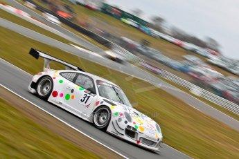 World © Octane Photographic Ltd. Avon Tyres British GT Championship. Monday 1st April 2013 Oulton Park – Race 2. Porsche 997 GT3-R – Trackspeed - Nick Tandy, David Ashburn. Digital Ref : 0625ce1d9897