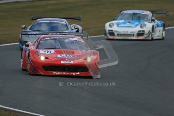 World © Octane Photographic Ltd. Avon Tyres British GT Championship. Monday 1st April 2013 Oulton Park – Race 2. Ferrari 458 Italia, FF Corse – Rob Barff, Gary Eastwood. Digital Ref : 0625lw1d0075
