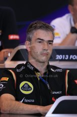 World © Octane Photographic Ltd. F1 Belgian GP - Spa - Francorchamps. Friday 23rd August 2013. FIA Friday Press Conference. Nick Chester - Lotus F1 Team. Digital Ref : 0789lw1d8093