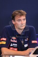 World © Octane Photographic Ltd. F1 Belgian GP - Spa - Francorchamps. Friday 23rd August 2013. FIA Friday Press Conference. James Key - Scuderia Toro Rosso. Digital Ref : 0789lw1d8096