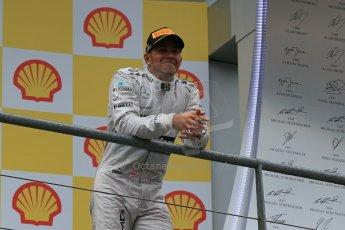 World © Octane Photographic Ltd. F1 Belgian GP - Spa-Francorchamps, Sunday 25th August 2013 - Podium. Mercedes AMG Petronas F1 W04 – Lewis Hamilton. Digital Ref : 0798lw1d0968