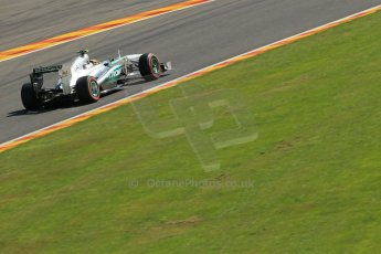 World © Octane Photographic Ltd. F1 Belgian GP - Spa - Francorchamps. Friday 23rd August 2013. Practice 2. Mercedes AMG Petronas F1 W04 – Lewis Hamilton. Digital Ref : 0787lw1d7782