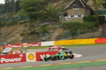 World © Octane Photographic Ltd. F1 Belgian GP - Spa-Francorchamps, Saturday 24th August 2013 - Practice 3. Caterham F1 Team CT03 - Giedo van der Garde. Digital Ref : 0792lw1d5240