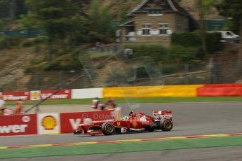World © Octane Photographic Ltd. F1 Belgian GP - Spa-Francorchamps, Saturday 24th August 2013 - Practice 3. Scuderia Ferrari F138 - Felipe Massa. Digital Ref : 0792lw1d5303