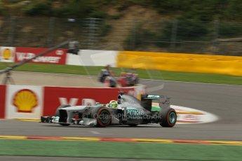 World © Octane Photographic Ltd. F1 Belgian GP - Spa-Francorchamps, Saturday 24th August 2013 - Practice 3. Mercedes AMG Petronas F1 W04 - Nico Rosberg. Digital Ref : 0792lw1d5346