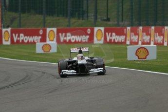 World © Octane Photographic Ltd. F1 Belgian GP - Spa-Francorchamps, Saturday 24th August 2013 - Practice 3. Williams FW35 - Pastor Maldonado. Digital Ref : 0792lw1d8757