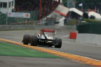 World © Octane Photographic Ltd. F1 Belgian GP - Spa-Francorchamps, Saturday 24th August 2013 - Practice 3. Vodafone McLaren Mercedes MP4/28 - Sergio Perez . Digital Ref :  0792lw1d8781