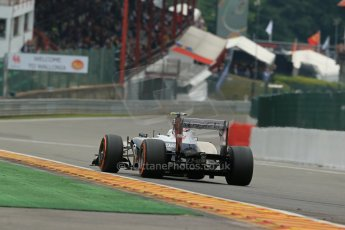 World © Octane Photographic Ltd. F1 Belgian GP - Spa-Francorchamps, Saturday 24th August 2013 - Practice 3. Williams FW35 - Valtteri Bottas. Digital Ref : 0792lw1d8838